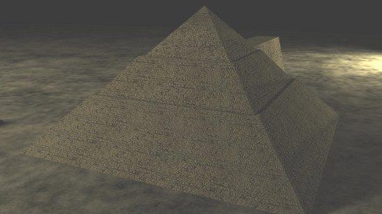 Visualizzazione 4D della valle delle Piramidi