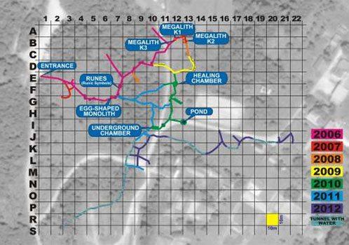 Mappa tunnel Ravne nel 2012
